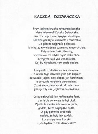 Wiersze Jana Brzechwy Przedszkole Z Oddziałami